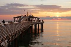 Il pontile di Lido di Camaiore (Darea62) Tags: sunset seascape bridge railing architecture lidodicamaiore tramonto versilia pier jetty tuscany travel clouds bellavista vittoria toscana sky