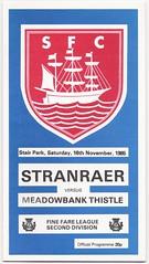 STRANRAER v MEADOWBANK THISTLE [1985-86] (bullfield) Tags: