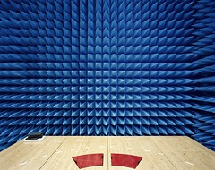 Wall of the Maxwell Test Chamber (europeanspaceagency) Tags: esa europeanspaceagency estec thenetherlands holand europe sonyworldphotographyawards edgarmartins maxwell chamber longexposure maxwelltestchamber testchamber test technology image week space geometric architecture lines wood
