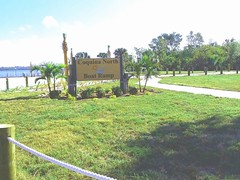 Renovations include new landscaping, signage and a paved entrance (Manatee County Government) Tags: north coquina boat ramp