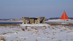 Time for picnic (Steenjep) Tags: vinter winter jylland danmark denmark water vand fjord is ice hjarbækfjord virksund sea frost frozen sne snow