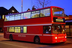 Moonlight feels right (Chris Baines) Tags: first ipswich volvo b7tl heritage livery cattle market 75 service felixstowe au53 hjv