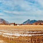 Empty field near Oberaudorf in Bavaria, Germany thumbnail