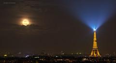 Full moon Mars 2018 (Julianoz Photographies) Tags: fullmoon paris europe eiffeltower toureiffel lune moon pleinelune julianozphotographies night france paname nuit idf îledefrance 75