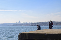 Alone and Together (MenetuPhoto) Tags: alone together love boy gir sea seaside blue istanbul view landscape