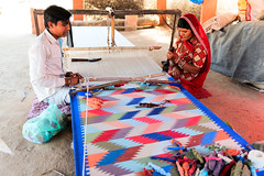 Son and mother waving carpet in Village near Jodhpur, Rajasthan, India (CamelKW) Tags: 2018 india rajasthan son mother waving carpet village jodhpur in