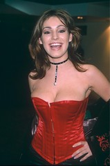 Mandatory Credit: Photo by REX (301137bl).KELLY BROOK.BRIT AWARDS CEREMONY, LONDON, BRITAIN - 16 FEB 1999.. (antoniusbudyono11) Tags: brit awards ceremony london britain 16 feb 1999 kelly brook tv presenter red bustier corset choker necklace jewellery brits fashion model tvpresenter alone headshot personality 2366568