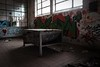Seems so unappealing (Livesurfcams) Tags: glass bench devon factory abandoned remlap fuji xt1 art spraypaint graffitti