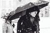 Meh II (Zesk MF) Tags: bw black white mono zesk snow schnee regenschirm man old elderly street strase candid