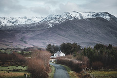 Ireland country side (Sunny Herzinger) Tags: fujixpro2 cottage winter travel street mountains cabin february ireland xf1655mm snow countymayo ie