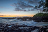 Secret Cove (Explore) (Agrestic13) Tags: mākena state park maui wailea ocean waves tide palm trees lava rocks beach hawaii nikon d850 20mm f18 sunset