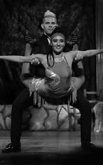 Flying! (Poocher7) Tags: people portrait couple male female love romance passion blackandwhite monochrome handsomeman stage costumes dance musical play flying varadero cuba carribean