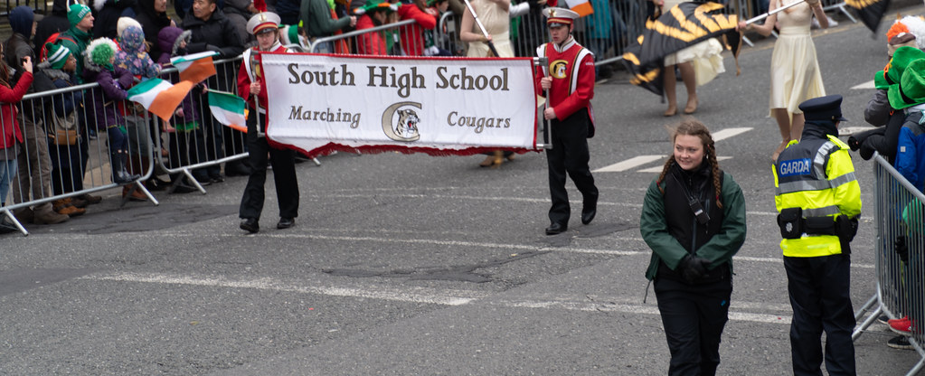 Lakeville South High School Marching Cougars [Dublin Parade March 17 2018]-137667