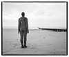 Crosby_Beach-5 (D_M_J) Tags: crosby beach sand antony gormley sculpture another place landscape uk north west england coast film camera medium format 120 roll 6x7 mamiya rb67 pro sd ilford delta 100 kodak hc110 epson v850 vuescan black white bw blackandwhite mono monochrome