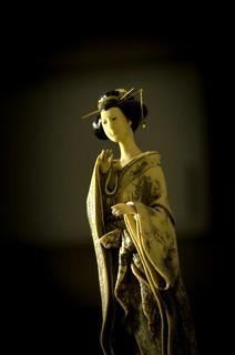 Side-lit lady