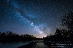 Milky Way over Chippewa River (susannevonschroeder) Tags: sawyercounty wisconsin chippewariver dark night river sky spring stars