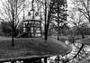 Back to chapel town. (janmalteb) Tags: bremen deutschland germany friedhof riensberg graveyard chapel kapelle see lake bäume trees schwarz weiss monochrom monochrome canon eos 77d tamron 18200mm