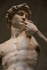David series #1 (Sara Bellini) Tags: david florence galleriadellaccademia statue sculpture michelangelo man beauty handsome art sepia culture bellezza power chest hand