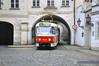 Tschechien Prag_DSC0513 (reinhard_srb) Tags: letenská auf der kleinseite prag tschechien durchfahrt strassenbahn bogen haus gleis weiche pflaster strasse verkehrsmittel öffentlich fenster laterne wand