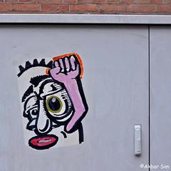 Den Haag Graffiti/Street art (Akbar Sim) Tags: denhaag thehague agga holland nederland netherlands streetart urbanart poster akbarsim akbarsimonse