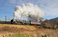 70013 Climbing To Oakworth. (Neil Harvey 156) Tags: steam steamloco steamengine steamrailway railway 70013 olivercromwell oakworthmound oakworth keighleyworthvalleyrailway kwvr worthvalleyrailway pacificloco brstandardpacific britanniapacific britannia riddles