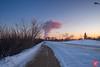 Evening at a park 19 (Kasia Sokulska (KasiaBasic)) Tags: canada alberta edmonton rundle park winter sunset evening landscape