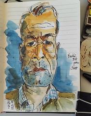 Bouke DH pour #JKPP .... et 3 ... finito ! #sketch #portrait #aquarelle #watercolors (dege.guerin) Tags: watercolors portrait sketch jkpp aquarelle