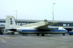 G-BFRK   Handley-Page HPR.7 Herald 209 [197] (Express Air Services) Amsterdam-Schiphol~PH 12/05/1979 (raybarber2) Tags: 197 airportdata approachtodo cn197 cancelled eham flickr gbfrk propliner slide ukcivil