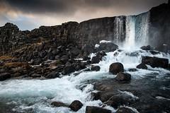Islande, Thingvellir, 17 (Patrick.Raymond (4M views)) Tags: islande froid gel hiver neige glace cascade cercle dor hdr nikon