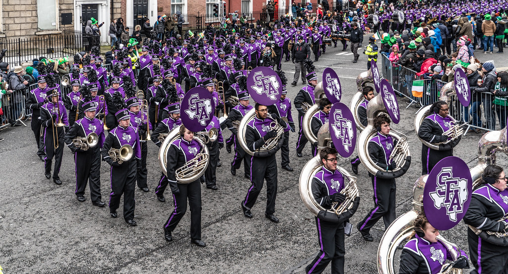 THE LUMBERJACK MARCHING BAND IN ACTION [ ST. PATRICKS DAY PARADE IN DUBLIN 2018]-137581