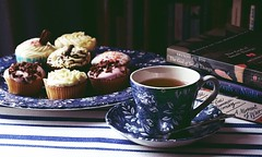 DSC02581-02 (suzyhazelwood) Tags: teacup tea cakes cake books reading afternoon food creativecommons a6000 sony