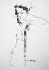 P1017972 (Gasheh) Tags: art painting drawing sketch portrait girl figure line pen charcoal gasheh 2018