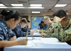 180301-N-XN398-018 (U.S. Pacific Fleet) Tags: flagship lcc19 usnavy ussblueridge sailors e6 advancement exam testing japan