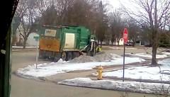 Garbage day - HTT 365/117 (Maenette1) Tags: garbageday wastemanagement truck neighborhood menominee uppermichigan happytruckthursday flicker365 michiganfavorites project365