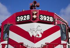 Lightening Bolts to Chevrons (WCfan) Tags: wisconsinandsouthern wsor watco wamx 3928 emd gp392 saukbranch y401 pdcsub prairiesub