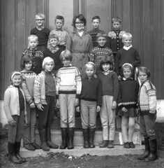 Class Photo (theirhistory) Tags: school class form group photo boys girls children kids teacher dress trousers shoes wellies jumper shorts rubberboots hat