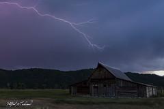 Reach For It_27A1145 (Alfred J. Lockwood Photography) Tags: alfredjlockwood nature landscape tamoultonbarn lightening thunderstorm clouds grandtetonnationalpark evening wyoming summer