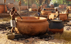 Brewing beer in ancient Egypt as shown in Ubisoft's Assassin's Creed Origins Discovery Tour (mharrsch) Tags: egypt ancient prolemaicperiod village beer brewing brewers brew assassinscreedorigins discoverytour game videogame ubisoft mharrsch