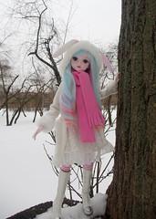 Lian Tian (HyperLaceAlchemists) Tags: doll dolls cute vinyl yeluoli bjd winter sunset snow