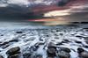 Red sky at night... (99damo) Tags: fire blue beach cumbria cloud colour coast d810 dark dusk evening gold gravel horizon sky lakedistrict light moody nikon rocks parton rock sunset sea