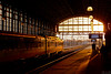 Station HS at the end of a winter day (PIVAMA|photography) Tags: hs hollands spoor train trein station people sun sunset