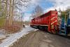 Pulling out of Hoossick Junction Interchange (HDR's Photos) Tags: railfanning freighttrain vermontrailsystem greenmountainrailroad trains hoosickfallsny emdsd60 emdsd70m2