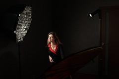 DSC_9697 (Roman LcL) Tags: portrait studiolight elena homestudio nikon d800 nikond800 red black 35mm bts backstage sb800 strobism nikoncls cls
