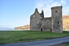 Lochranza castle 2 (Harry McGregor) Tags: grass sky landscape building lochranza arran isle ayrshire isleofarran scotland castle historic scenic harrymcgregor nikon d3300 21 february 2018