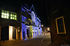 King's Lynn Town Hall Lit Up For World Down Syndrome Day. (markself396) Tags: kingslynn townhall downsyndromeday lights saturdaymarketplace queenstreet