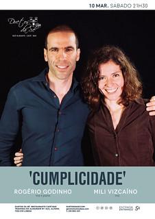concerto - Duetos da Sé - Alfama Lisboa - SÁBADO 10 MARÇO 2018 - 21h30 - CUMPLICIDADE - Rogério Godinho - Mili Vizcaíno