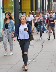 Levi's (Waterford_Man) Tags: levis jeans mobile girl street people path candid london