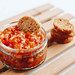 Brunch - tomato sauce and bruschetta.