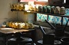 China- Xinjiang- Kashi- kitchen's Tea House (venturidonatella) Tags: cina asia kashi kashgar xinjiang teat teahouse teiera teiere cucina kitchen teapot teapots luce ombra shadow light pentole china nikon nikond299 d200 colori colors