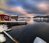 The Gangplank (Spence D) Tags: newfoundland newworldisland stage winter ocean herringneck snow shed shoreline shipisland calm coast cove colorful clouds cold